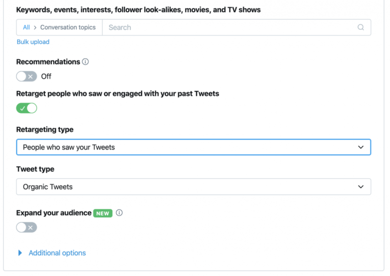 twitter ad audience features